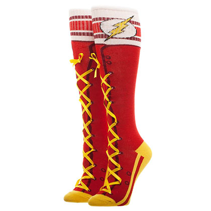 The FLASH Lace Up Women's Knee High Socks