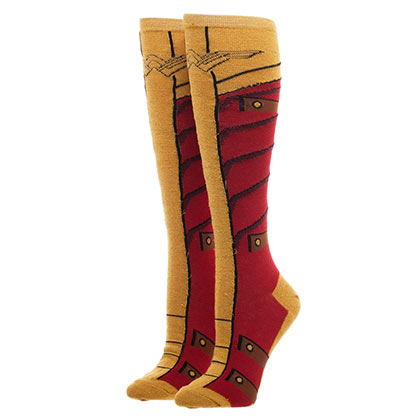 WONDER WOMAN Knee High Costume Boot Socks