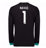 2017-18 Real Madrid Away Long Sleeve Shirt - Kids (Navas 1)