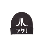 Atari - Black Roll Up Beanie With Logo And Kanji