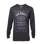 Jack Daniels - Mens long sleeves t-shirt with dark grey print