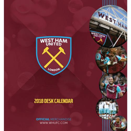 West Ham United F.C. Desktop Calendar 2018