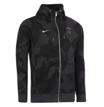 2017-2018 PSG Nike Authentic Full Zip Hoody (Anthracite)