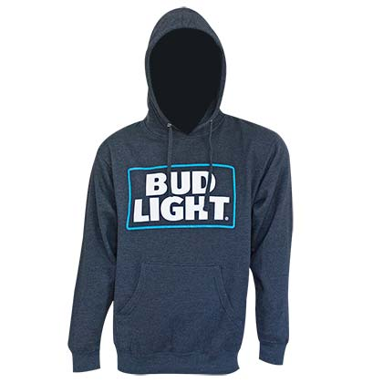 BUD LIGHT Navy Blue Logo Hoodie