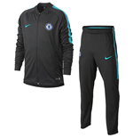 2017-2018 Chelsea Nike Dry Tracksuit (Anthracite) - Kids