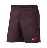 2017-2018 Barcelona Third Nike Football Shorts (Night Maroon)