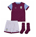 2017-2018 Aston Villa Home Little Boys Mini Kit