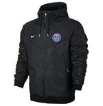 2017-2018 PSG Nike Authentic Windrunner Jacket (Black)