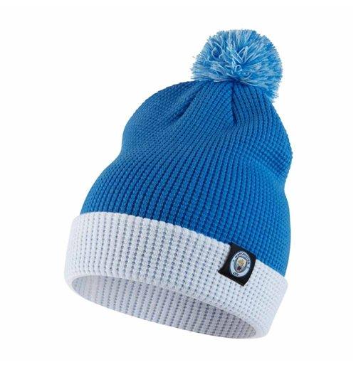 Buy Official 2017-2018 Man City Nike Bobble Hat (Blue) d767707cd75
