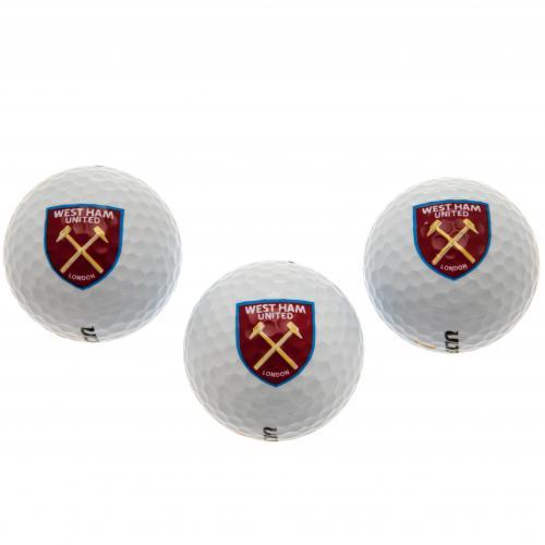 Official West Ham United F C Golf Balls Buy Online On Offer