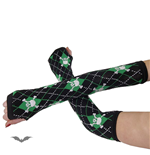 Arm warmers- black/green paid, skull & b