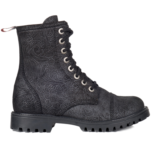 Aderlass 8-Eye Boots Leather Brocade