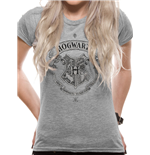 Harry Potter - Hogwarts One Colour - Women Fitted T-shirt Grey