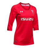 2018-2019 Wales Rugby Home WRU Womens Supporters Shirt (Red)