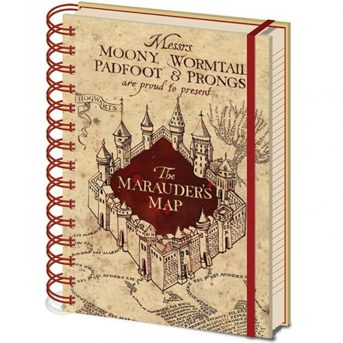Harry Potter Notebook Marauders Map