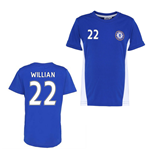 Official Chelsea Training T-Shirt (Blue) (Willian 22)