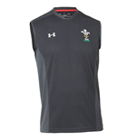 2018-2019 Wales Rugby WRU Sleeveless Training Tee (Black)