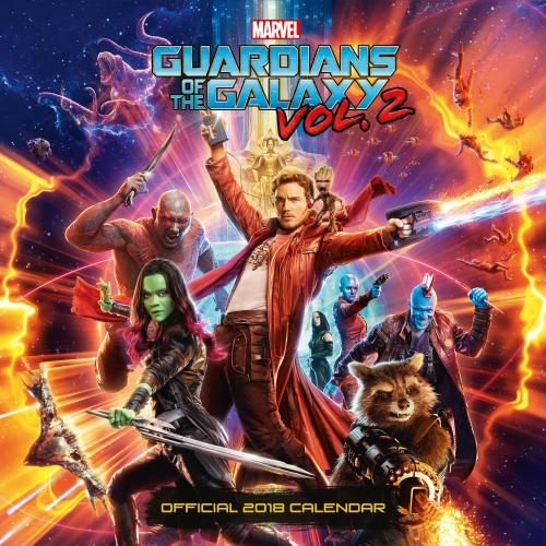 Guardians of the Galaxy Calendar 2018