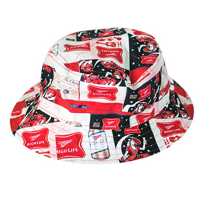 MILLER High Life All Over Logos Bucket Hat