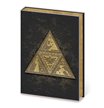 Legend of Zelda Metal Embellished Premium Journal A5 Metal TriForce