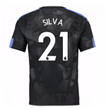 2017-18 Man City Third Shirt (Silva 21) - Kids
