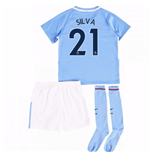 2017-18 Man City Mini Kit (Silva 21)