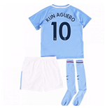 2017-18 Man City Mini Kit (Kun Aguero 10)