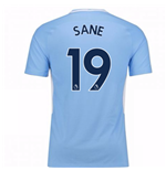 2017-18 Man City Home Shirt (Sane 19)