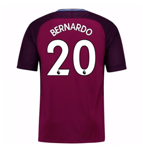 2017-18 Man City Away Shirt (Bernardo 20) - Kids