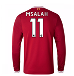 2017-18 Liverpool Home Long Sleeve Shirt (Kids) (M Salah 11)