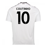 2017-18 Liverpool Away Shirt (Coutinho 10) - Kids