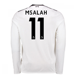 2017-18 Liverpool Away Long Sleeve Shirt (M Salah 11) - Kids
