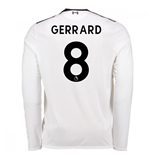 2017-18 Liverpool Away Long Sleeve Shirt (Gerrard 8) - Kids