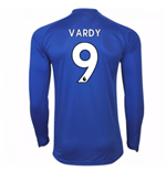 2017-18 Leicester City Home Long Sleeve Shirt (Vardy 9)