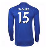 2017-18 Leicester City Home Long Sleeve Shirt (Maguire 15)