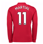 2017-2018 Man United Long Sleeve Home Shirt (Martial 11)