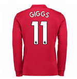 2017-2018 Man United Long Sleeve Home Shirt (Giggs 11)
