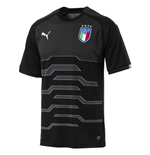 2018-2019 Italy Home Puma Goalkeeper Shirt (Black)