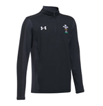 2018-2019 Wales Rugby WRU 1/4 Zip Training Top (Black) - Kids