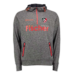 2017-2018 Leicester Tigers 1/4 Zip Training Hoody (Black)