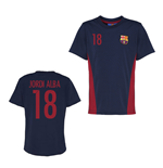 Official Barcelona Training T-Shirt (Navy) (Jordi Alba 18)