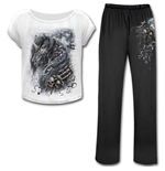 Dark Unicorn - 4pc Gothic Pyjama Set