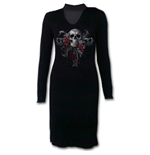 Skull Roses - Neck Band Elegant Dress