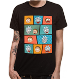 Rick And Morty - Pop Art Faces - Unisex T-shirt Black
