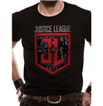 Justice League Movie - Shield Characters - Unisex T-shirt Black