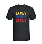 James Rodriguez Colombia Player Flag T-shirt (black)