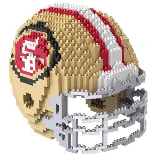 San Francisco 49ers 3D BRXLZ Team Helmet