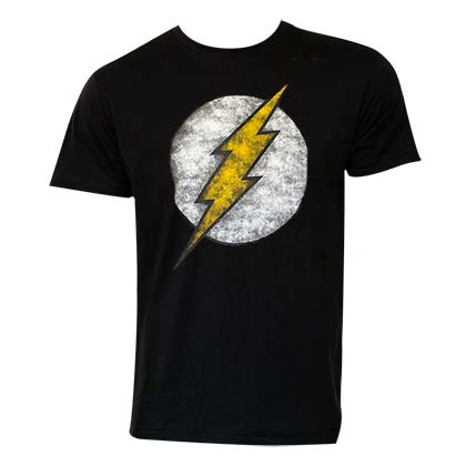 The FLASH Distressed Logo Black Tee Shirt