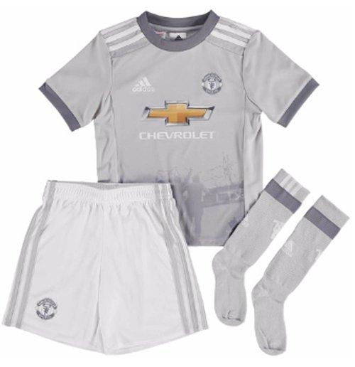 Buy Official 2017 2018 Man Utd Adidas Third Little Boys Mini Kit