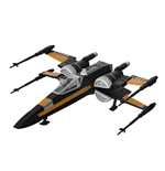 Star Wars Build & Play Model Kit with Sound & Light Up 1/78 Poe's Boosted X-Wing Fighter